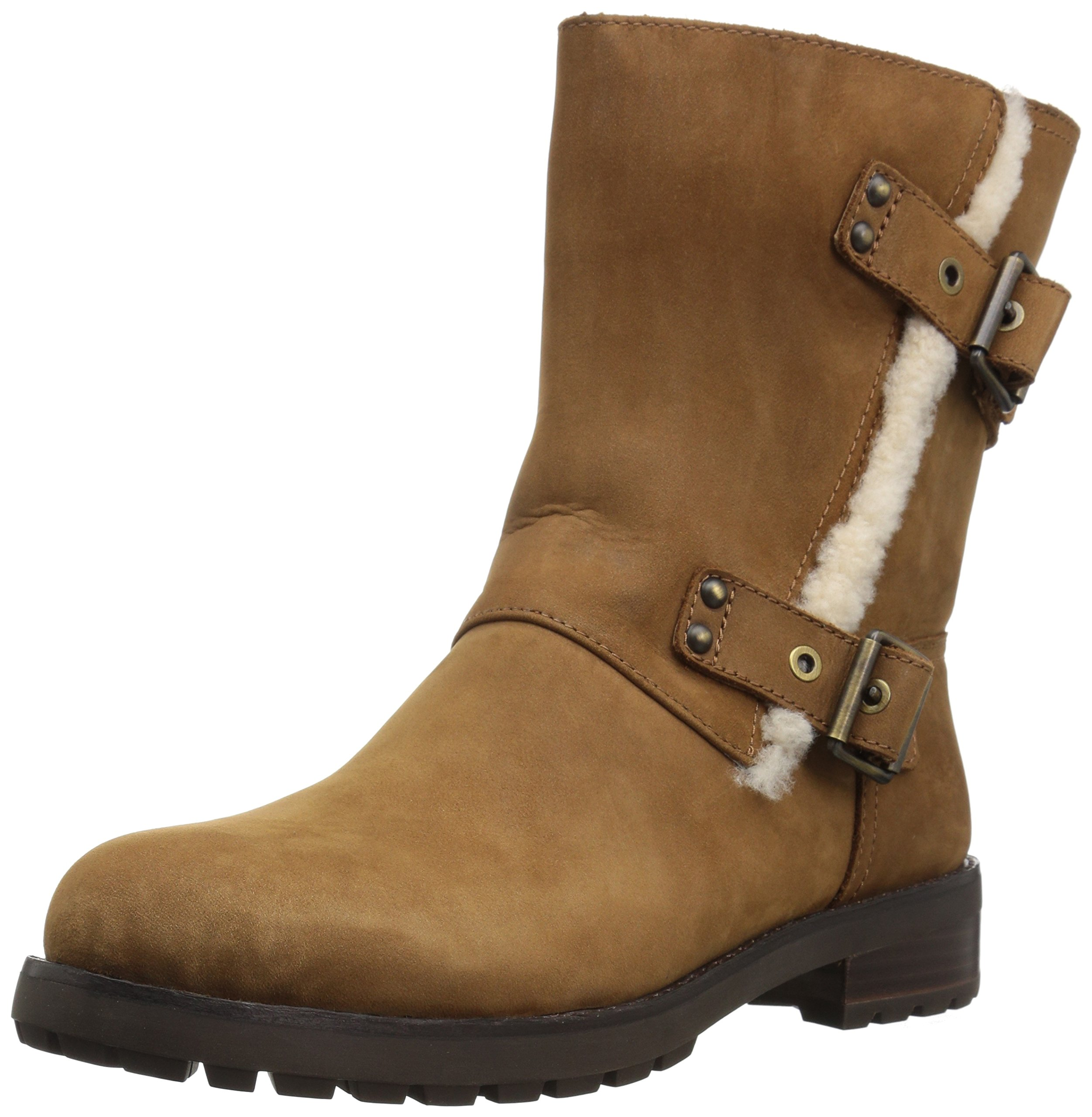 UGG Women's Niels Zippered Boot, Chestnut, 12 M US