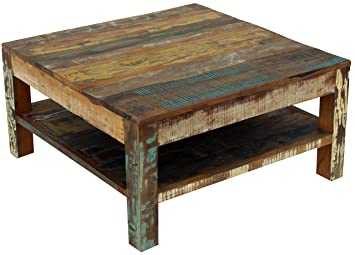 Table Basse Vintage Bois.Guru Shop 80x80 Table Basse Vintage Bois Recycle Ho11130