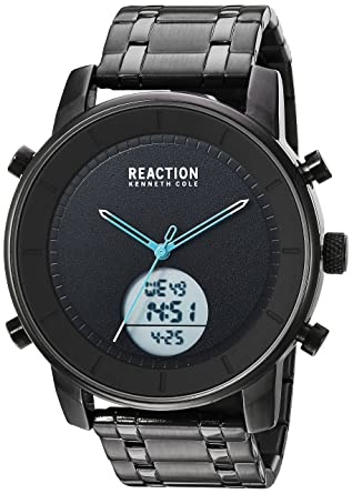 Kenneth Cole REACTION Mens RK50083009 Analog-Digital Display Analog Quartz Black Watch