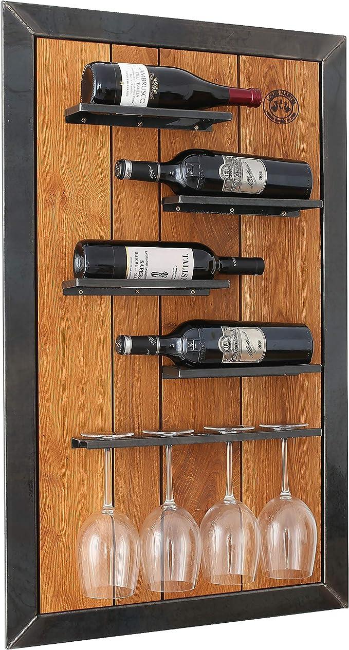 Weinregal aus Holz Cotswold Weinschrank Eiche mit 1 Schublade f/ür 16 Flaschen lackiert