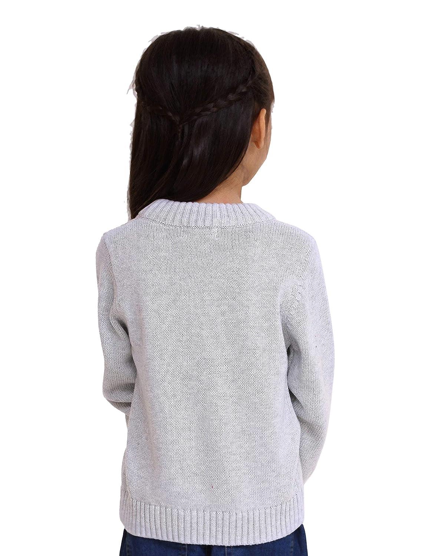 iGirlDress Little Girls Basic Knit Cardigan Jacket Sweater 2-12