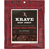KRAVE Beef Jerky, Garlic Chili Pepper, 2.7 Ounce