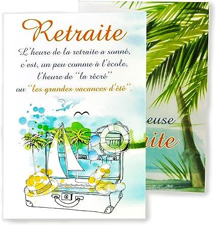 carte de départ en retraite afie 69 3934 Carte Dépliante Départ Heureuse Retraite   Palmiers