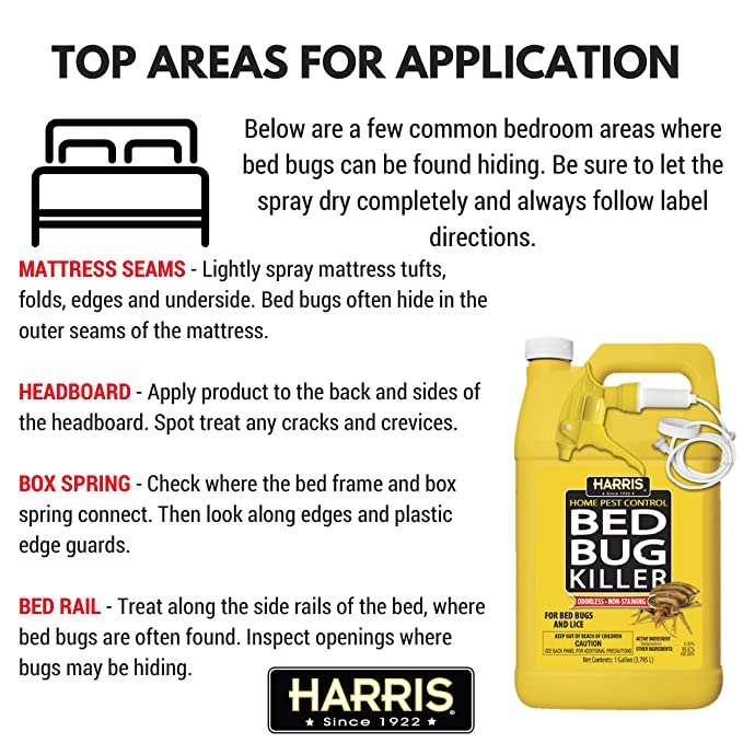 Amazoncom Harris Bed Bug Killer Liquid Spray with Odorless and