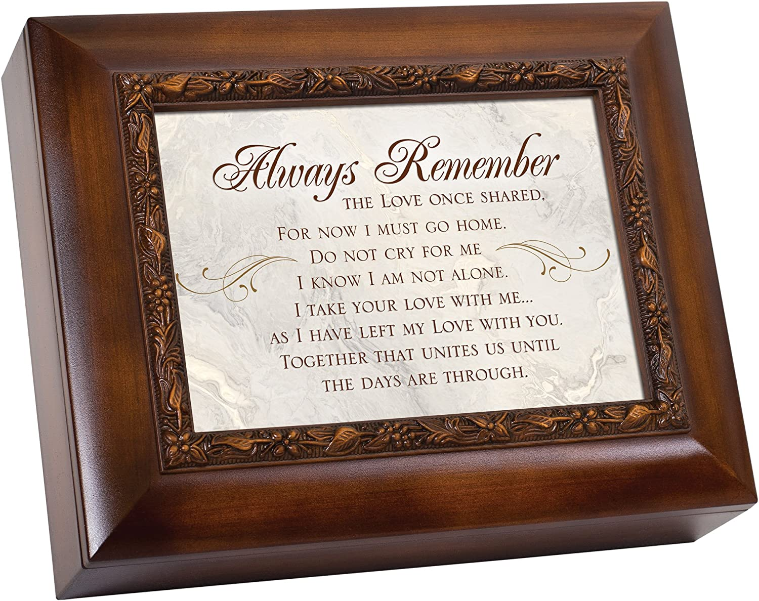 Cottage Garden Always Remember The Love Once Shared Woodgrain Embossed Ashes Bereavement Urn Box