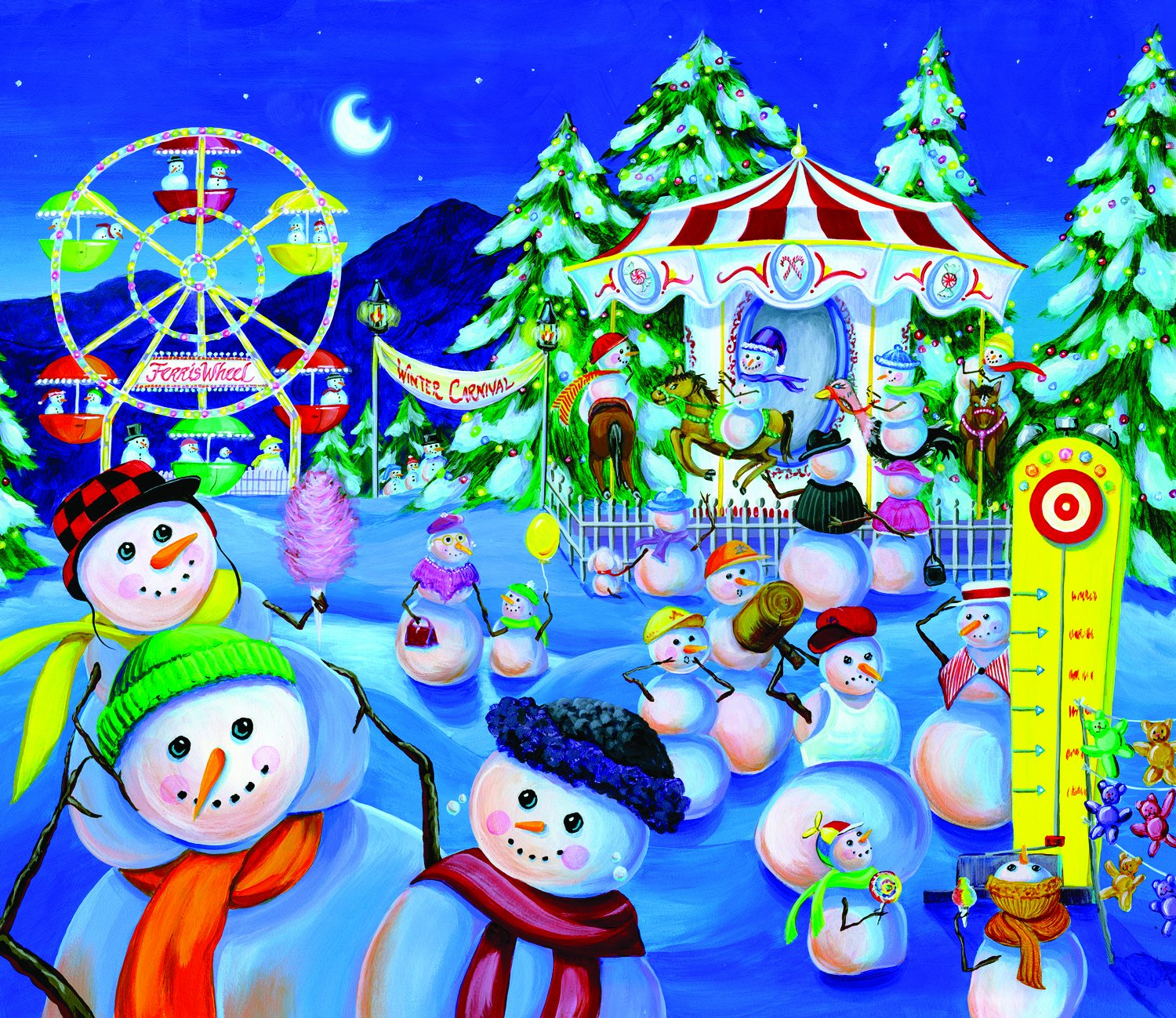 Snowman Carnival 200 pc Jigsaw Puzzle