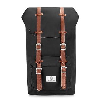 49e9006e3f SEVENTEEN LONDON – Modern Unisex Outdoor Waterproof Hiking Backpack with  Classic Belt Detailing – Fits Laptop