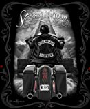 Ride or Die Motorcycle Stairway to Heaven Queen Size Luxury Royal Plush Blanket 79x95 Inches