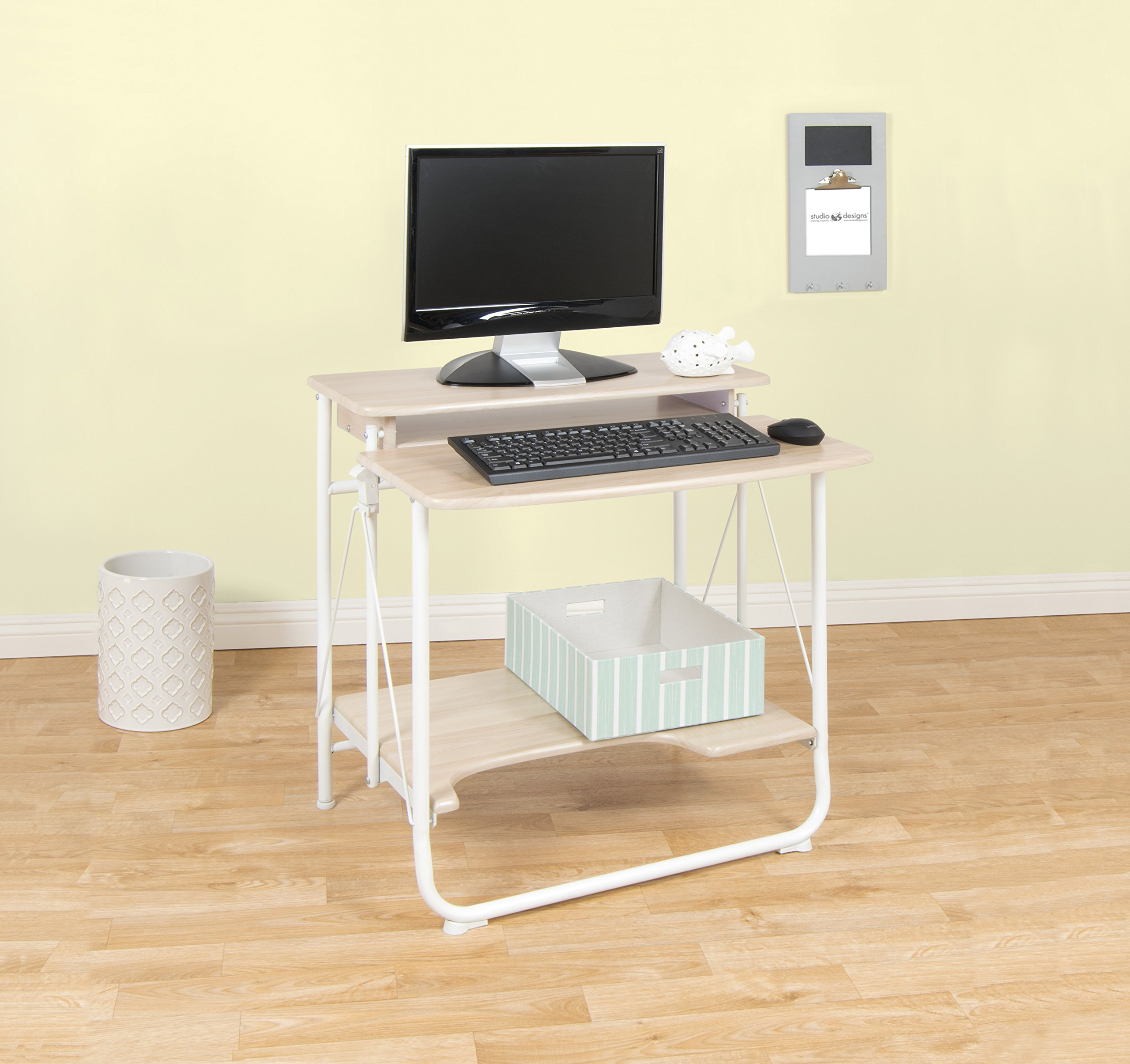 Calico Designs 51236.0 Stow Away Folding Desk, White/Maple