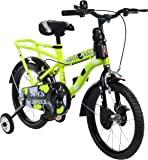 MAD MAXX Steel Kids Humber 16T Road Cycle, 16 inches (Neon Green) For 4 to 6 years Child