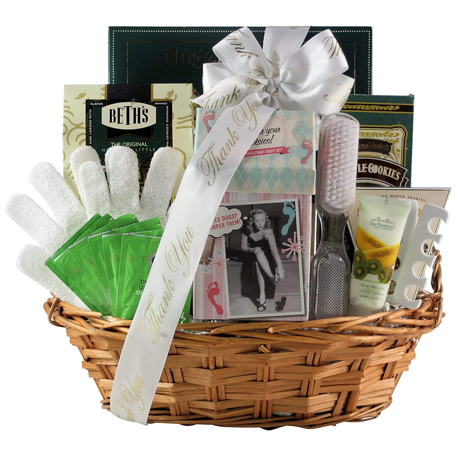 Amazon GreatArrivals Gift Baskets Hands And Feet Specialty Spa Bathand Body Birthday Basket 4 Pound Grocery Gourmet Food