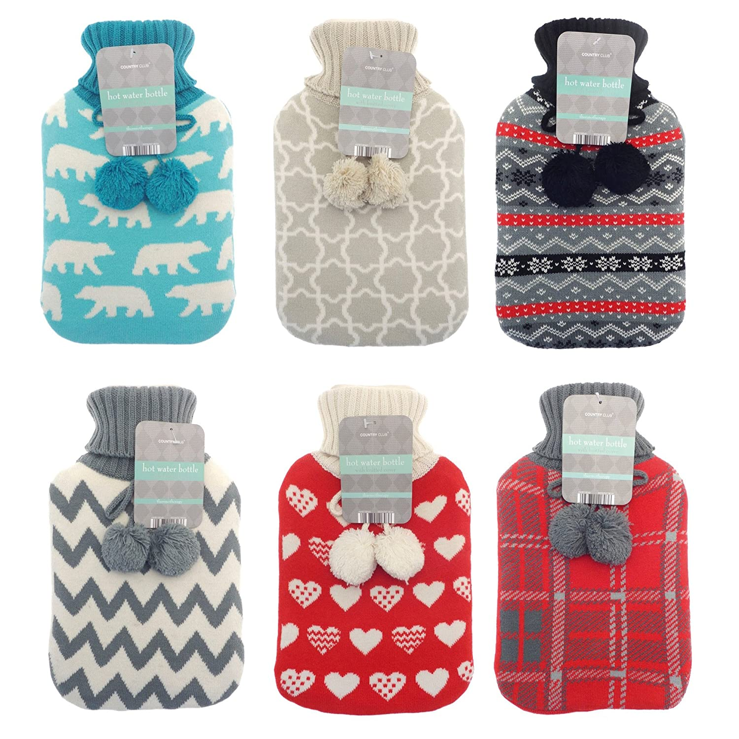 Hot water bottle with nordic design knitted cover amazon hot water bottle with nordic design knitted cover amazon kitchen home bankloansurffo Choice Image