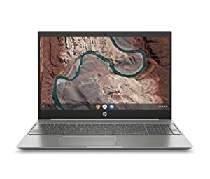 HP Chromebook 15-Inch Laptop, Micro-EDGE Touchscreen, Dual-Core Intel Pentium Gold 4417U Gold Processor, 4 GB SDRAM, 64 GB eMMC Storage, Chrome OS (15-de0010nr, Ceramic White/Mineral Silver)