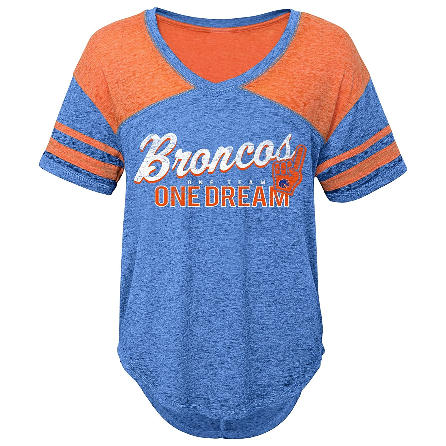 Team Color 0-1 X-Small NCAA Boise State Broncos Juniors Outerstuff Vintage Short Sleeve Football Tee