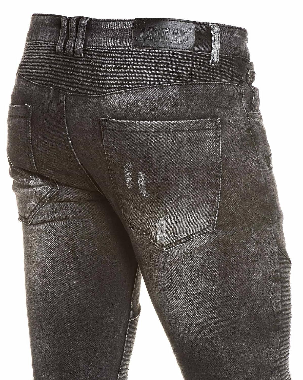 BLZ jeans - Jean getragen und verblasst schwarzen Art und Weise Rippen -  Size: FR 42 US 33, Color: Schwarz: Amazon.de: Bekleidung