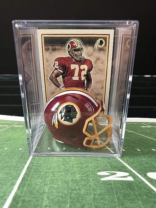 low priced 86ce7 bfa32 Amazon.com: Washington Redskins NFL Helmet Shadowbox w ...
