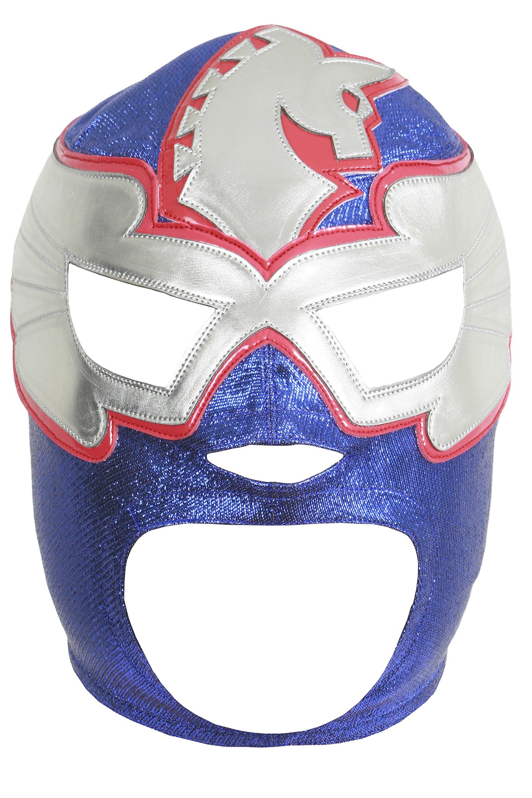 Deportes Martinez Pegasus Kid Professional Lucha Libre Mask Adult Luchador Mask Blue Red by Deportes Martinez