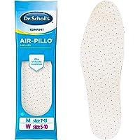 Dr. Scholl's AIR-PILLO Plantillas (Hombres 7 – 13, Mujeres 5 – 10) // Amortiguación ultrasuave y comodidad duradera con dos capas de espuma