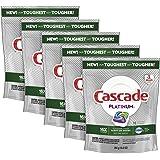Cascade Platinum ActionPacs Dishwasher Detergent, Fresh Scent, 90 ct, Tub Refill Bags