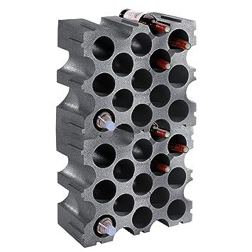 Unbekannt Weinregal Flaschenregal Stone Kunststoff 2er Set Fur 30