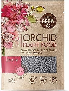 Orchid Plant Food (5 oz, 50+ Applications) - Bloom Booster Fertilizer Pellets for Orchids in Pots - Slow Release Nutrients for Healthy Flower & Reblooms