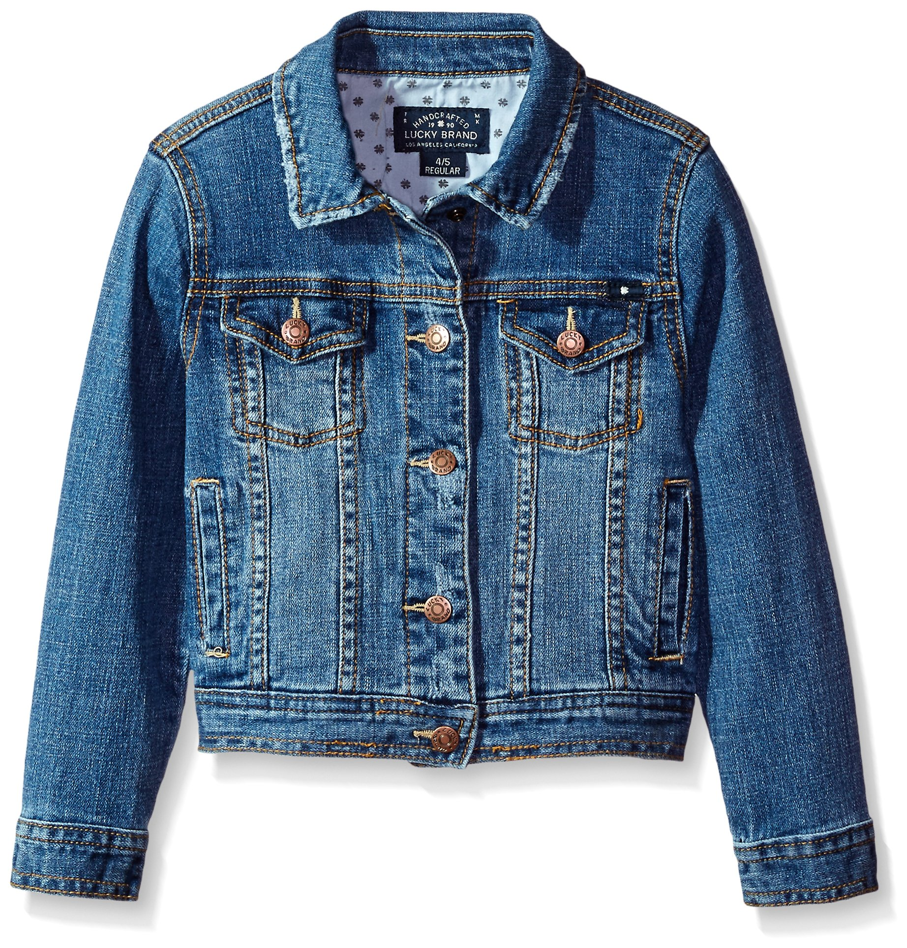 Lucky Brand Little Girls' Denim Jacket, Brianna Christi Wash, 6X