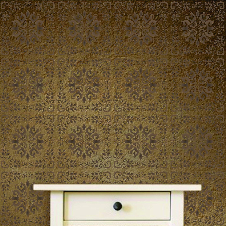 4.5 inch M Oriental Tiles Stencil 11.5cm - Accent Mandala Chinese Asian Japanese Stencils 10 x 10 inch
