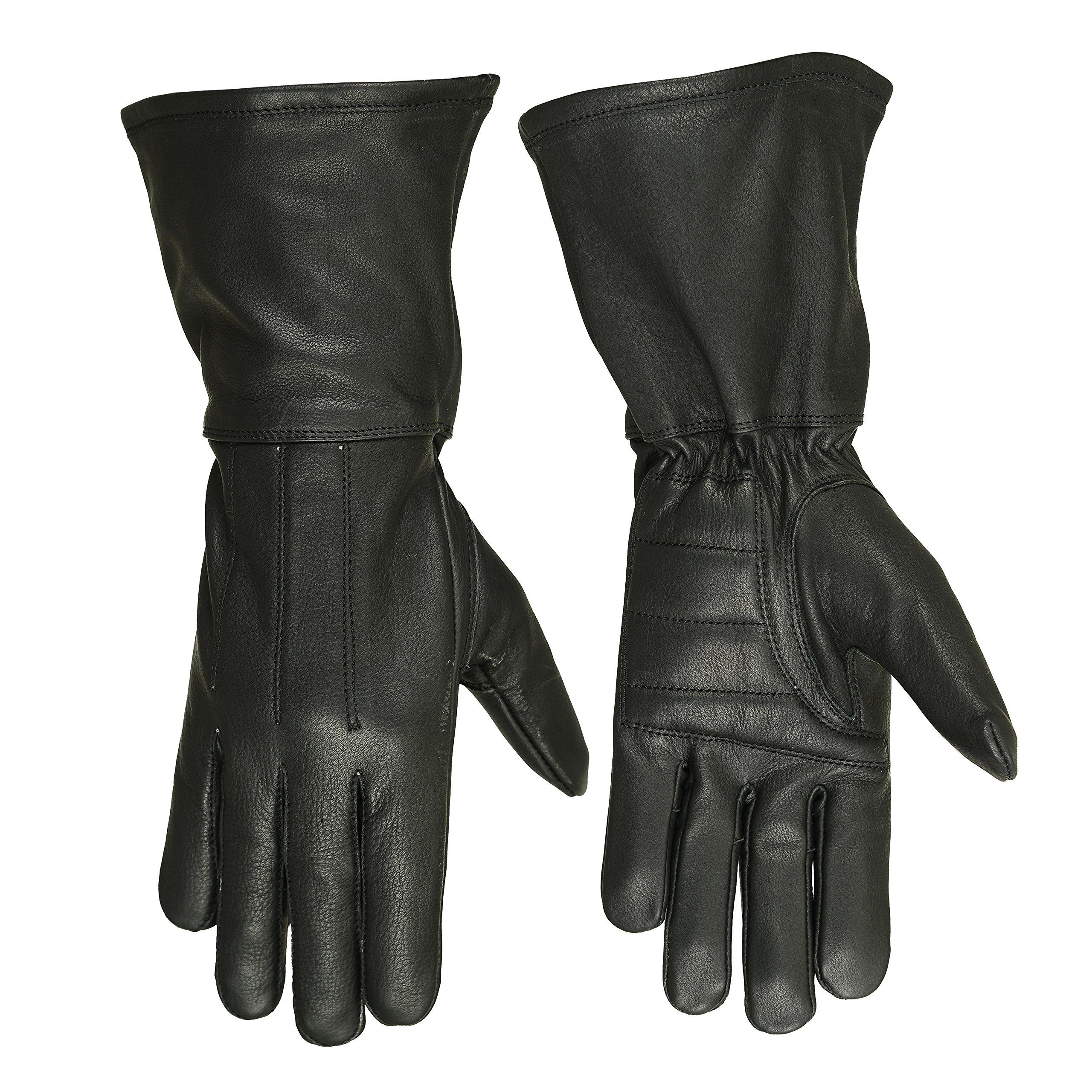 Hugger Glove Company Men's Classic Unlined Seasonal Wind Stopper Gauntlet (Large)