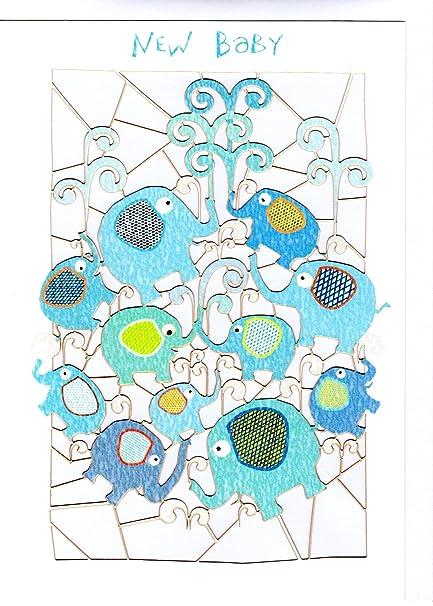 excepcional tarjeta de felicitación de nacimiento de bebé. Diseño ...