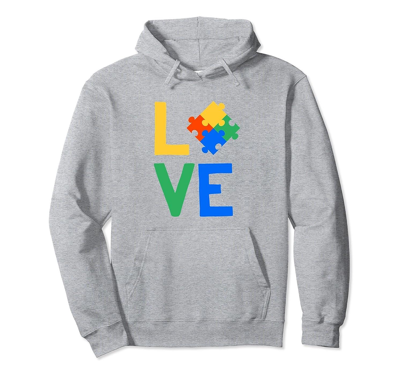 Autism Awareness Hoodie Men Women Kids Support Love Heart-TH