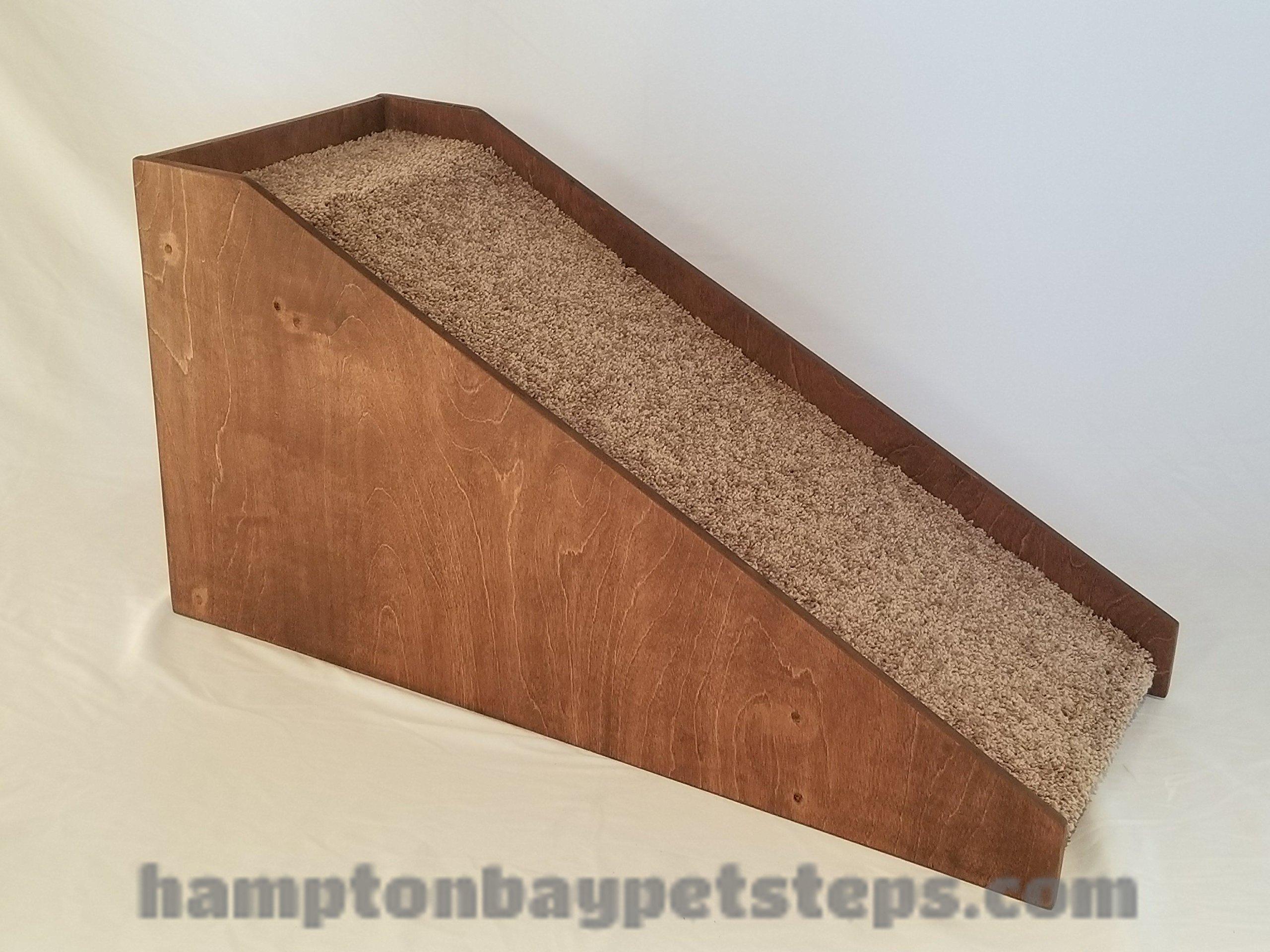Dog Ramp with 2″ Guard Rails, Wooden Pet Ramp, Hampton Bay Pet Steps