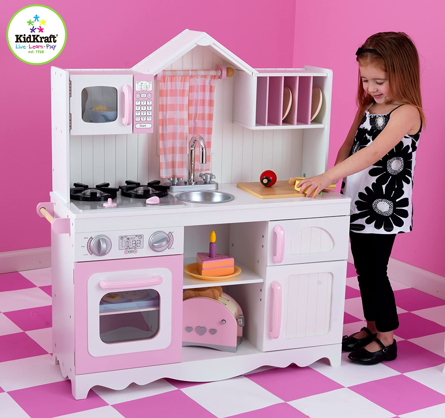 kidkraft modern country kitchen toys games