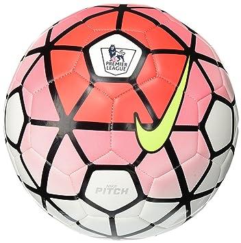 02c51d2d657 Image Unavailable. Nike Pitch EPL 2015-2016 Soccer Ball (White Bright  Crimson Black