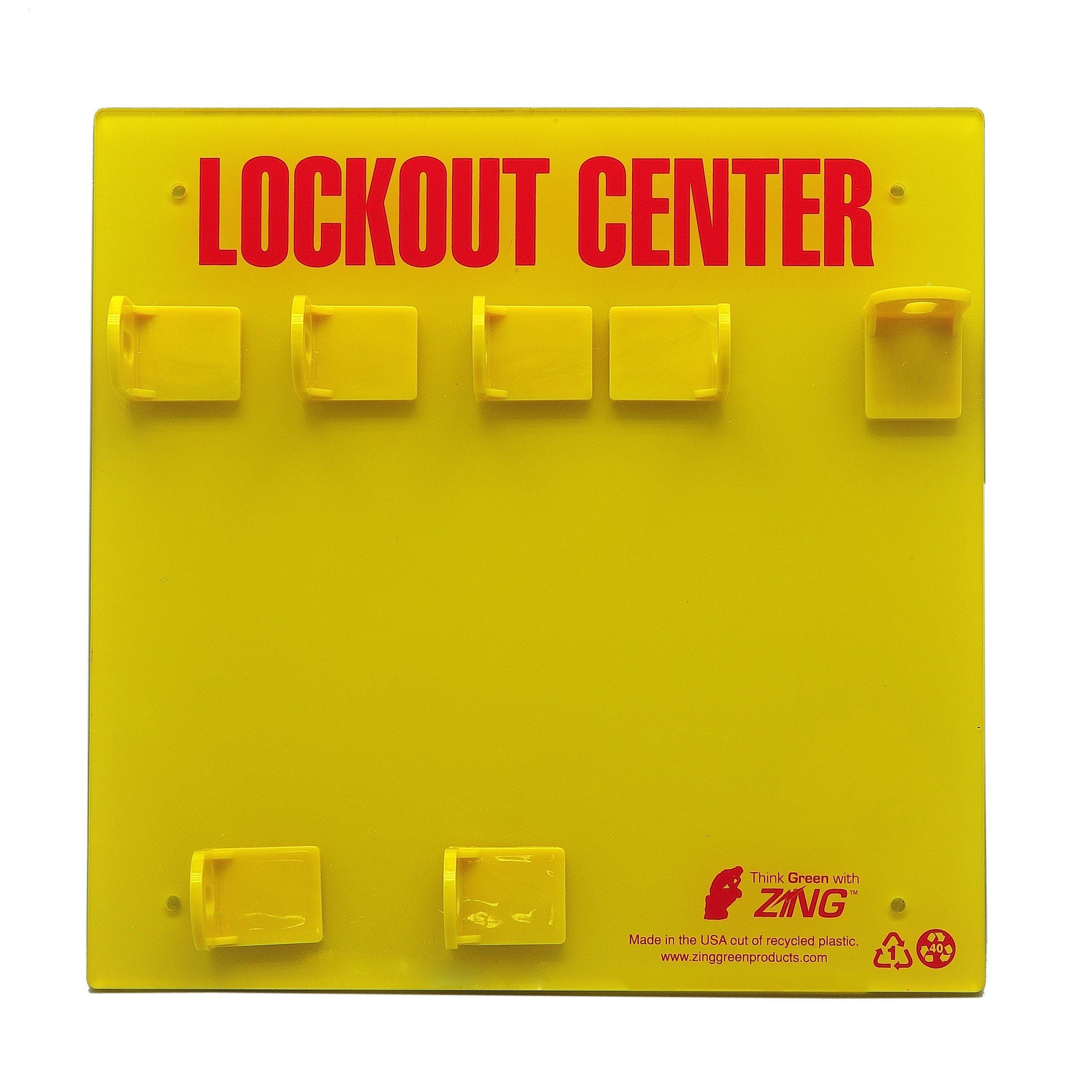 ZING 7113E RecycLockout Lockout Station, 3 Padlock, Unstocked