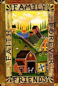Toland Home Garden Americana Farm 12.5 x 18 Inch Decorative Rustic Friends Family Country Barn Garden Flag