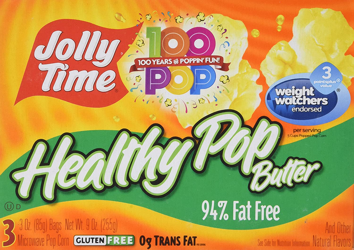 Jolly Time Healthy Pop Microwave Popcorn, 3 ct, 2 pk