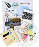Momenta 25074 Art-C Ephemera Collage (128 Pack), Word Play, Assorted