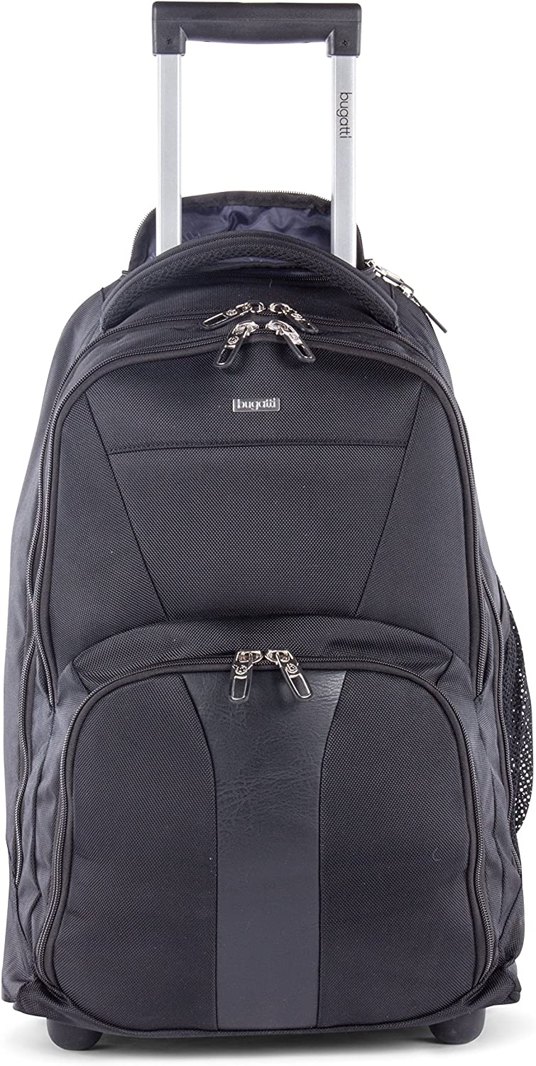 Black Polyester 13-Inch x 20.5-Inch x 10-Inch bugatti BKPW2621 Gregory RFID Business BackPack on Wheels