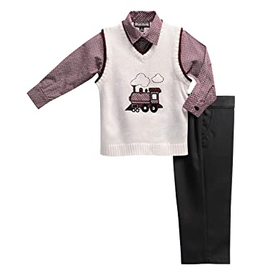 Amazoncom English Laundry Baby Boys 3 Piece 14 Zip Sweater Mini