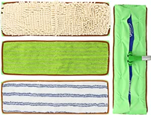 Reusable Mop Pads for Swiffer Sweeper XL, Machine Washable Refill Pads for Swiffer Extra Large, Microfiber Mop Pads for Hardwood Floor, 3-Packs