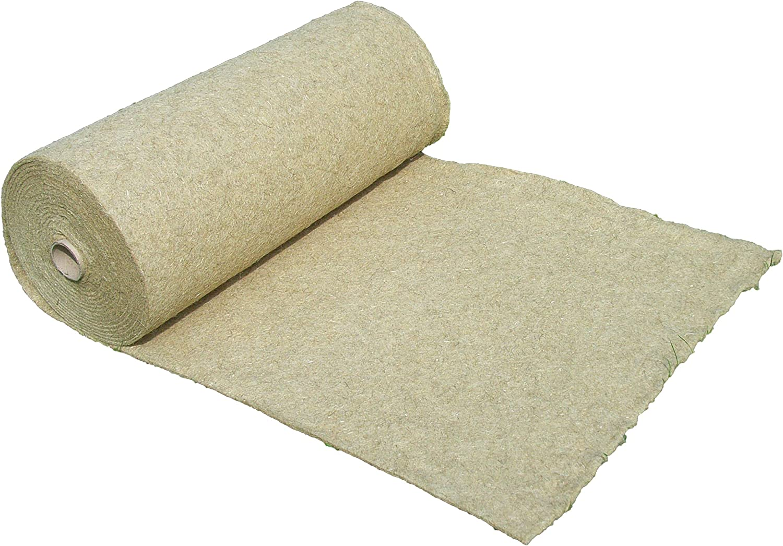 Alfombra para roedores hecha de 100% de cáñamo, vendida por metro, 0,60 m x 5,00 m x 1 cm de espesor (EUR 10,83 / m²), alfombra para roedores adecuada como revestimiento de piso en jaula, p. para cone