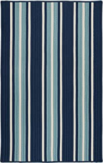 product image for Colonial Mills Mesa Stripe Braided Rug, 9' X 12' , Shoreline Blue