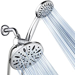 """AquaDance 7"""" Premium High Pressure 3-way Rainfall Shower Combo Combines the Best of Both Worlds - Enjoy Luxurious Rain Showerhead and 6-setting Hand Held Shower Separately or Together!-3327"""