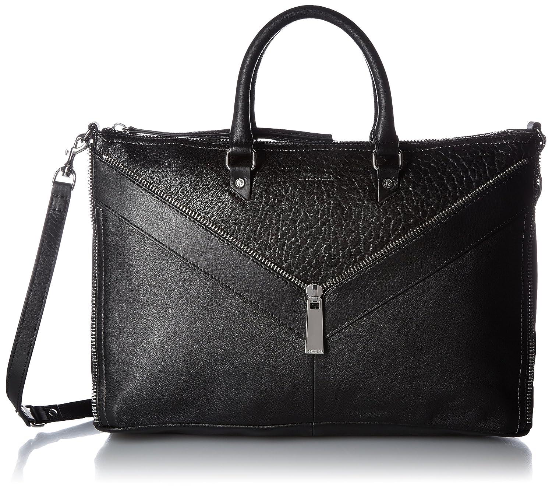 (ディーゼル) DIESELレディース レザー ハンドバッグ LE-ZIPPER OLIVAH handbag B01N7RH96Mブラック UNI(FREE サイズ)