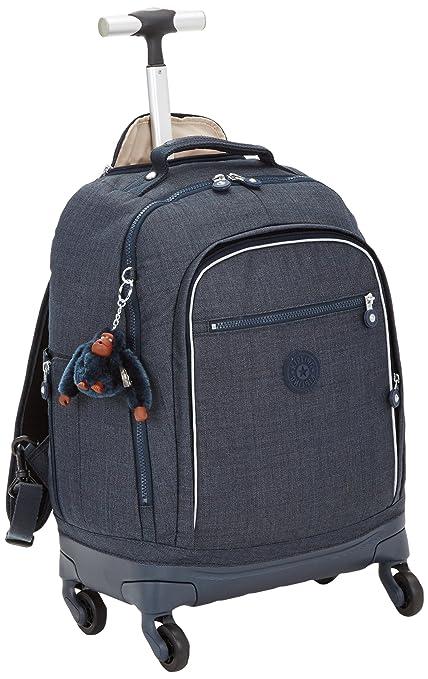 aa662efe46 Kipling - ECHO - Wheeled school bag - Jeans True Blue - (Blue)  Amazon.co.uk   Luggage