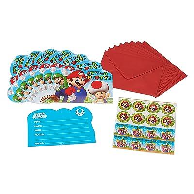 Super Mario Invite Postcards, 8 Count, Party Supplies`: Toys & Games