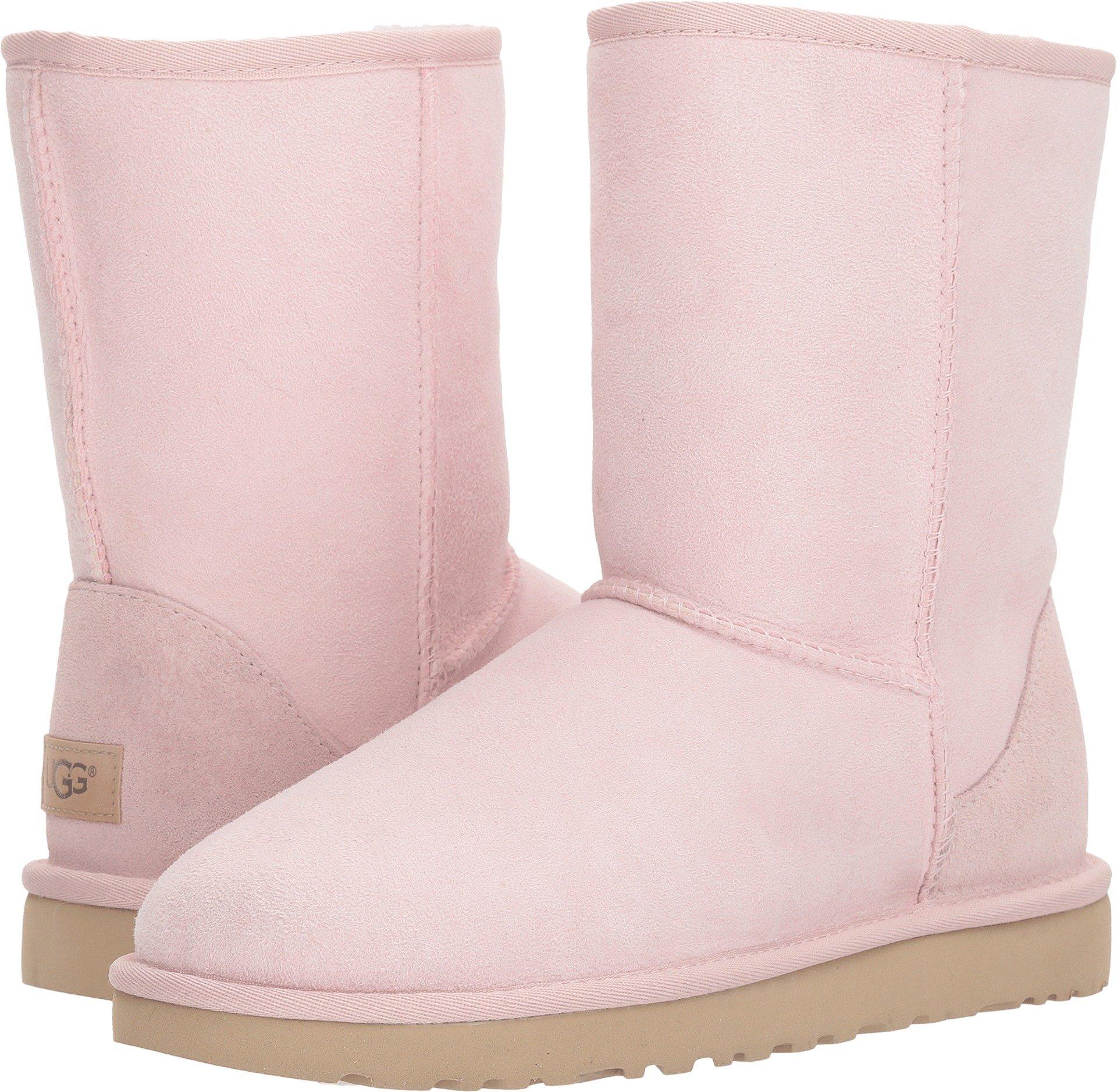 UGG Women's Classic Short II Fashion Boot, Seashell Pink, 8 M US