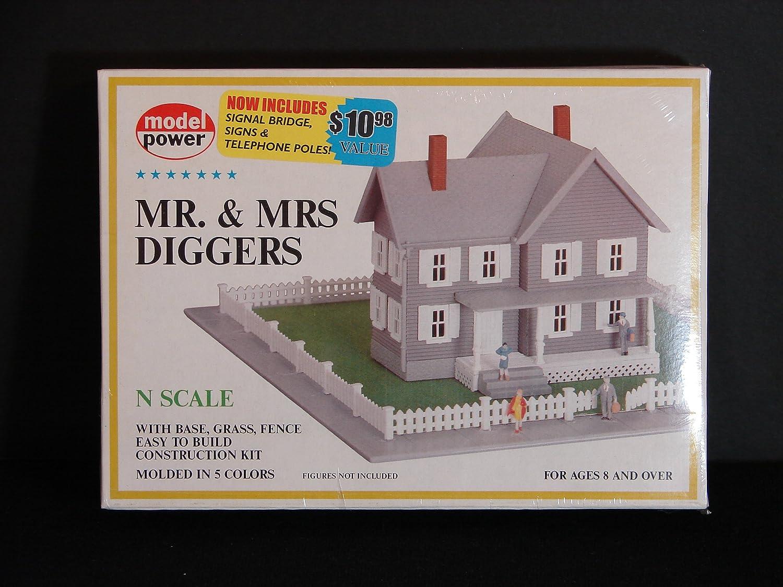 【人気商品!】 Nスケール鉄道プラスチックモデル構築キット# 1558 Diggers – Mr –。& Mrs Diggers withベース B00EG7F0JO、Grass &フェンス B00EG7F0JO, HOBBY-JOY:8b18444e --- a0267596.xsph.ru