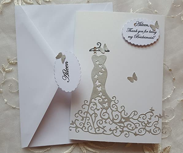 amazon com thank you bridesmaid card will you be my bridesmaid