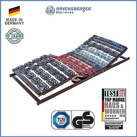 Ravensberger Matratzen Meditec Lattenrost   5-Zonen-TPEE-Teller-Systemrahmen   Schichtholzrahmen  Elektrisch  MADE IN GERMANY